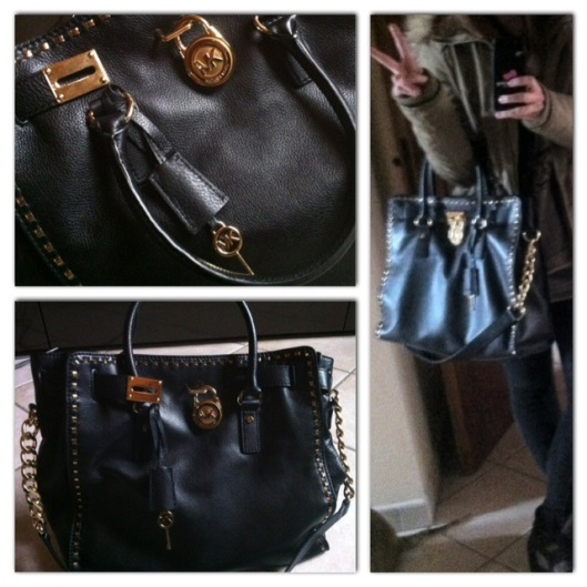 Michael Kors Hamilton studded Bag