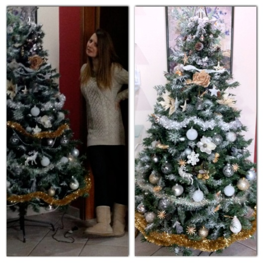 christmas tree gold and ootd ugg