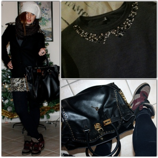 OOTD,Michael Kors hamilton studded bag, Ash sneakers